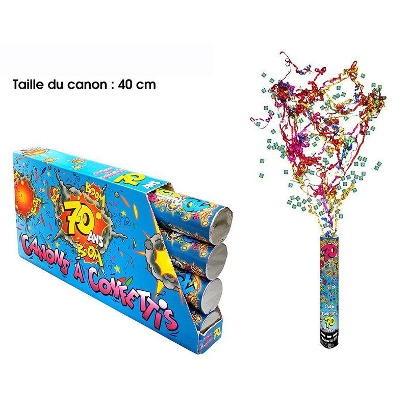 CANON À CONFETTIS 70 ANS