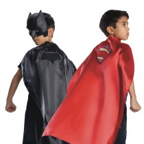 CAPE RÉVERSIBLE BATMAN/SUPERMAN ENFANT