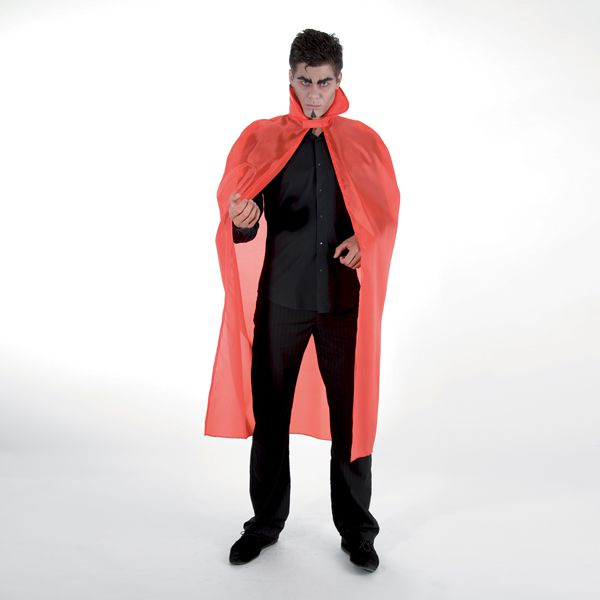CAPE TAFFETAS ADULTE ROUGE 127 CM