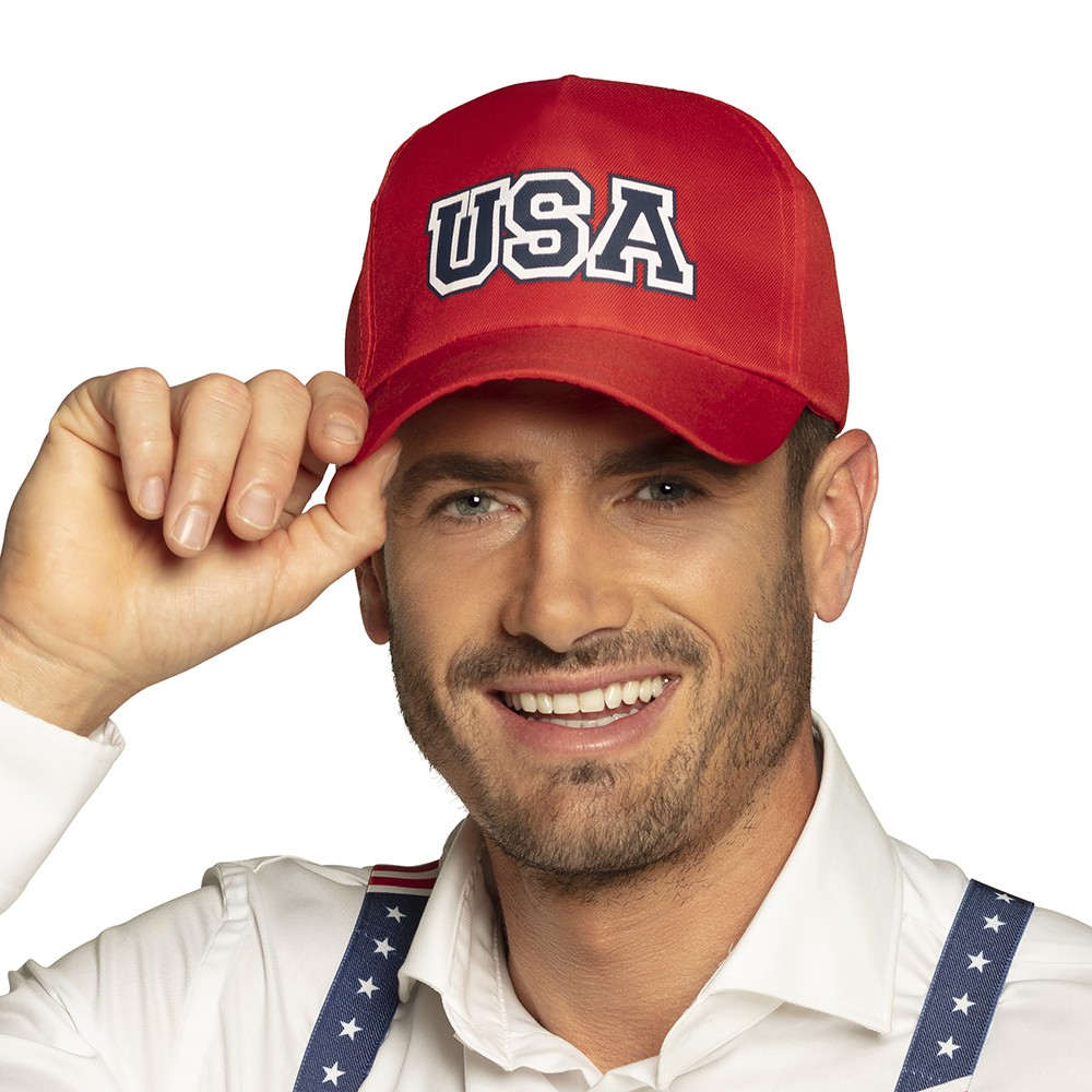 CASQUETTE USA ROUGE