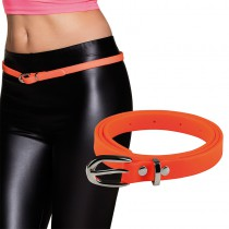 CEINTURE ORANGE FLUO ADULTE