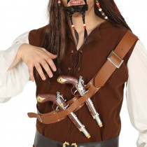 CEINTURE THORACIQUE 2 PISTOLETS PIRATE