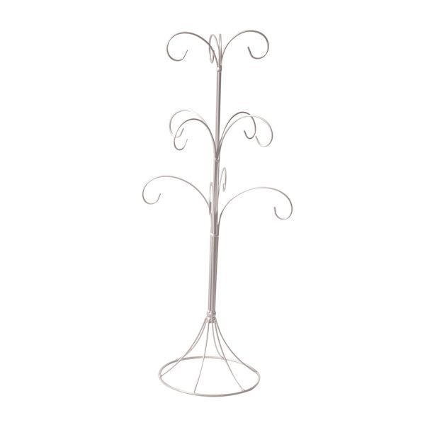 CENTRE DE TABLE 12 BRANCHES - BLANC