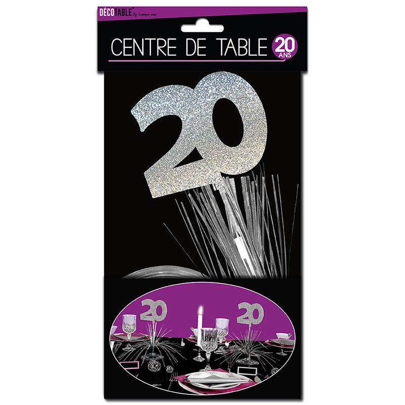 CENTRE DE TABLE 20 ANS