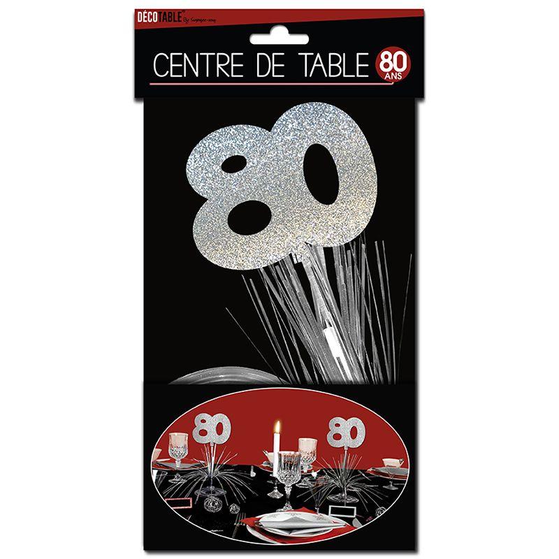 CENTRE DE TABLE 80 ANS