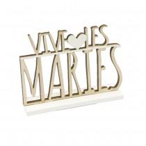CENTRE TABLE BOIS VIVE LES MARIÉS 8.5X11.8X3CM
