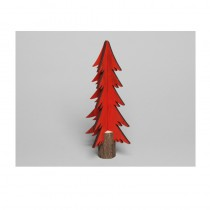 CENTRE TABLE SAPIN 3D ROUGE 28 CM