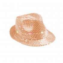 CHAPEAU BORSOLINO 6 LED SEQUIN ROSE GOLD