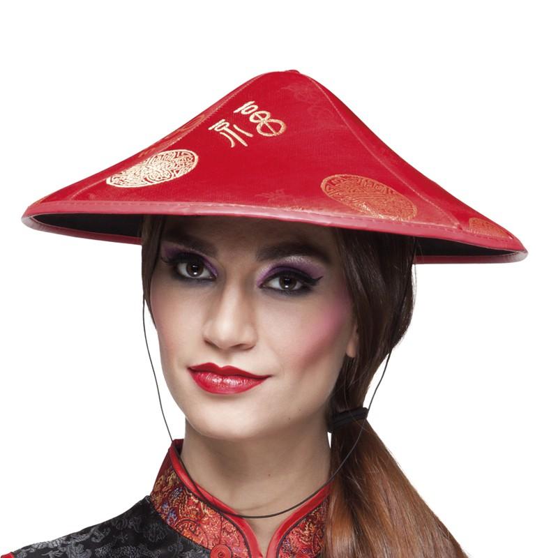 CHAPEAU CHINOIS ROUGE