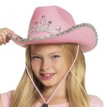 CHAPEAU COW-GIRL ROSE FILLE