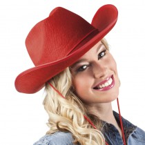 CHAPEAU RODEO ROUGE ADULTE