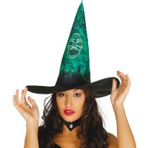 chapeau sorcière vert