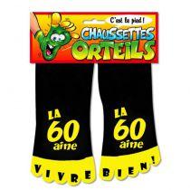 CHAUSSETTE ORTEILS LA 60AINE NOIRE
