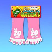 CHAUSSETTES ORTEILS 20 ANS ROSE