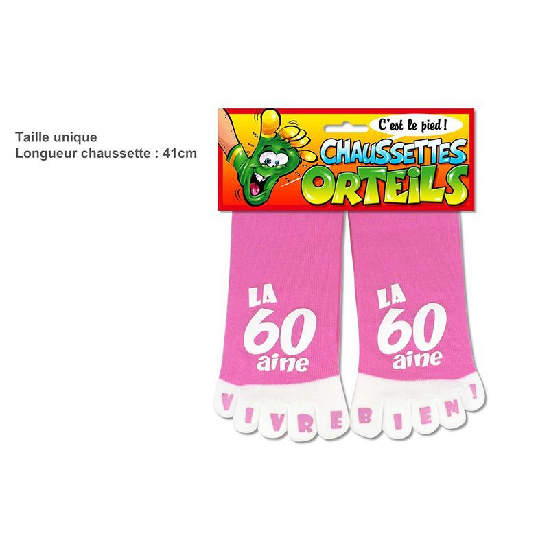 CHAUSSETTES ORTEILS 60AINE ROSE