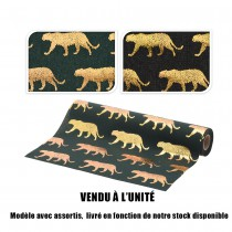 CHEMIN DE TABLE ANIMAL SAUVAGE 28X270CM 2ASS