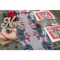 CHEMIN DE TABLE DÉCOR DE NOËL 30CMX5M