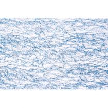CHEMIN DE TABLE GLITTER - BLEU  30 CM*5 M