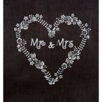 CHEMIN DE TABLE MR & MRS 30 X 5 CM