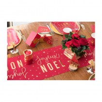 CHEMIN DE TABLE NOËL ROUGE 28CMX3M