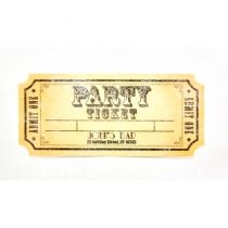 CHEMIN DE TABLE PARTY TICKET 30 X 5 CM