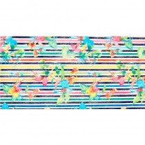 """CHEMIN DE TABLE RAYÉ TROPICAL 30CM X 5M"