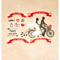 CHEMIN DE TABLE SAVE THE DATE 30 X 5 CM