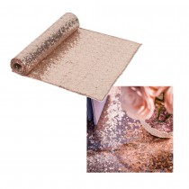 CHEMIN DE TABLE SEQ ROSE GOLD 30CMX2.50M