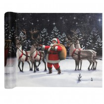 CHEMIN DE TABLE TRAINEAU DU PÈRE NOËL 30CMX5M