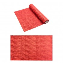 CHEMIN DE TABLE VELOURS GLACÉ ROUGE MÉTAL 28CMX3M