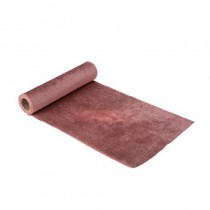 CHEMIN DE TABLE VELOURS ROSE 30CMX2,5M