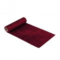CHEMIN DE TABLE VELOURS ROUGE 30CMX2,5M