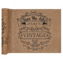 CHEMIN DE TABLE VINTAGE KRAFT 28 CM X 3 M