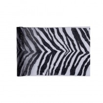 CHEMIN DE TABLE ZEBRA NOIR 28 CM X 5 M