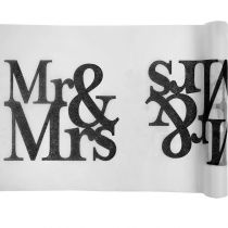 CHEMIN TABLE MARIAGE MR & MRS 30 CM X 5 M