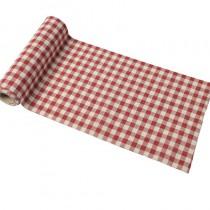 Chemin table vichy lin déco table