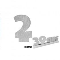 CHIFFRE 2 DE 12CM ARGENT