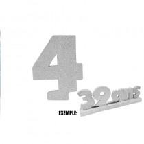 CHIFFRE 4 DE 12CM ARGENT