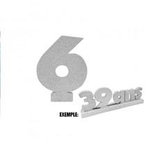 CHIFFRE 6 DE 12CM ARGENT