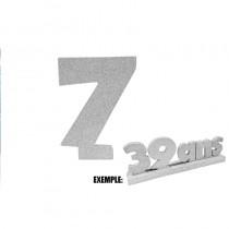 CHIFFRE 7 DE 12CM ARGENT