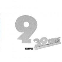 CHIFFRE 9 DE 12CM ARGENT