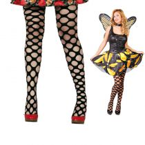 COLLANTS NOIRS GRANDE MAILLE