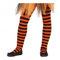 COLLANTS ORANGE ET NOIR ENFANT