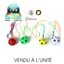COLLIER BALLON FOOTBALL 4CM 4 COLORIS