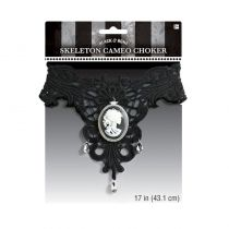 COLLIER RAS-DE-COU CAMÉE BLACK AND BONE