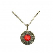 COLLIER VAMPIRE PIERRE ROUGE