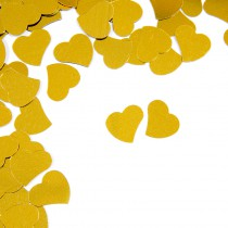 CONFETTIS DE TABLE COEUR 10G OR