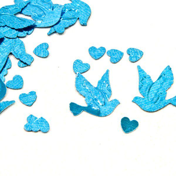 CONFETTIS DE TABLE COLOMBES - BLEU