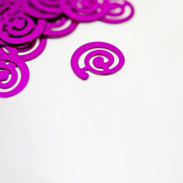 CONFETTIS DE TABLE SPIRALE - FUSCHIA