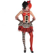 CORSET CLOWN HALLOWEEN ADULTE